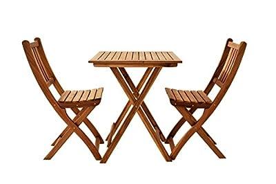 SAM® Balkongruppe 1 Blossom 3tlg. aus Akazienholz, bestehend aus 1 x Tisch + 2 x Klappstuhl von SAM® - Gartenmöbel von Du und Dein Garten