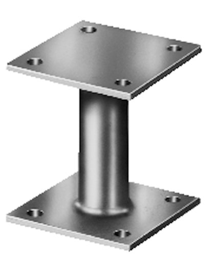 Screw-On Post Anchor Hot-Dip Galvanised 100 x 100 mm