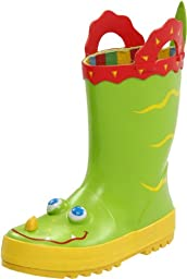 Melissa & Doug Kid\'s Sunny Patch Augie Alligator Boots,Green,6-7 M US Toddler