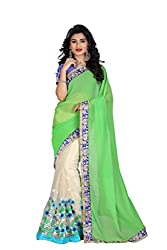 Gokul Vastra Saree (P-KT-3097_1_Green Cream)