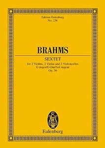 Sextet 2 Op. 36 G Maj Strings (Edition Eulenburg) from Ernst Eulenburg Co Gmbh