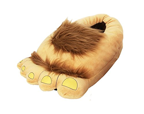 LATH.PIN Animale Cosplay Zampa Artigli Scarpe Halloween Costume Peluche pantofole (Taglia unica (misure per 36-42EU), Furry avventura Pantofole)