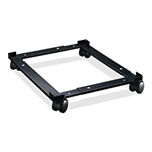 Lorell 17573 File Caddy, Adjustable, 11-3/8 in.x16-5/8 in.x4 in., Black