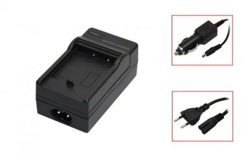 Akku-Ladegerät passend für Olympus Li-10B black, Minolta Dimage X / Xi / Xt / Xg / Xt Biz, Olympus mju 300 Digital / mju 400 / mju 410 Digital / mju 600 / mju 800 / mju 810 Digital / mju 1000, U-15 / U-20 / U-25 / U-30 / U-410 / X1 / X2 / X3, C-50 Zoom / C-5000 Zoom / C-760 Ultra Zoom / C765 Ultra Zoom / C-770 Movie, Sanyo DSC-AZ3 / DSC-J1 / DSC-MZ3 / XACTI / VPC-J1 EX / VPC-J2 EX / VPC-AZ3 EX / VPC-MZ3 EX, Stylus 300 / 400 / 410 Digital / C-50