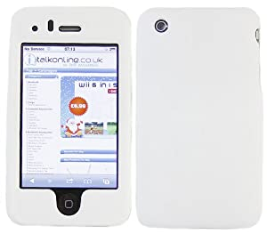 iTALKonline BIANCO SnapGuard Armour clip Protezione HYBRID On Custodia / Cover / pelle per Apple iPhone 3G 3GS