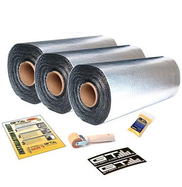 Buy  GTMAT 110 75 sqft Automotive Constrained Layer Damper Dampening Deadening Resonance Dampening 110 Super Thick - Noise Sound Deadener Installation Kit Includes: 75sqft Total (25ft + 25ft + 25ft Rolls) Instruction Sheet, Degreaser, Application Roller, GTMAT Decals