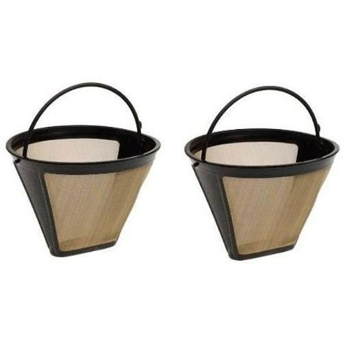 Medelco GF214CB #4 Cone Permanent Golden Coffee Filter 2 pack (Coffee Filter Gold 2 compare prices)