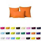 """Decorative Pillows Cover/Cushion Case (18""""x18"""", Pumpkin Orange)"""