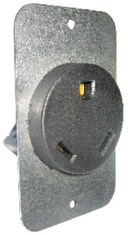 Conntek 80309 RV Bare Cord Connector 30 Amp RV Flash Mount Receptacle