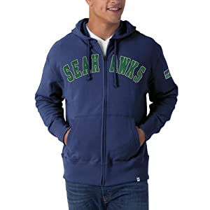 NFL Seattle Seahawks Men's Striker Full Zip Jacket from Twins Enterprise/47 Brand