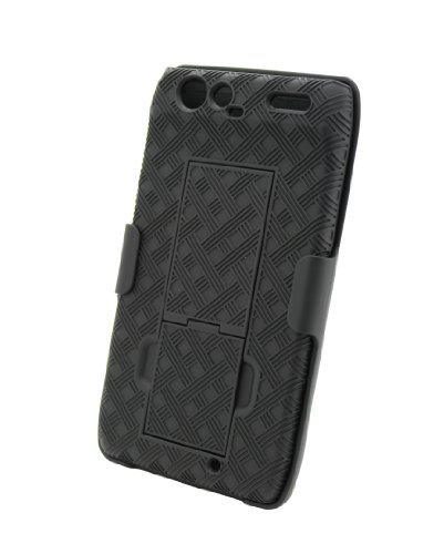 "Aduro Shell Holster Combo Case for Motorola Droid RAZR XT912 with Kick-Stand (Retail Packaging) ""Not Compatible with DROID RAZR MAXX"""