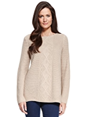 M&S Collection Cable Knit Jumper