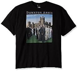 Downton Abbey Men's Family T-Shirt, Black, 5X-Large