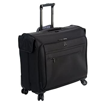 delsey luggage helium x 39 pert lite ultra light 4 wheel spinner garment bag black 45. Black Bedroom Furniture Sets. Home Design Ideas