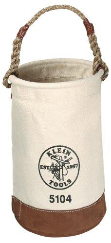 Klein 5104 No. 1 Canvas Leather-Bottom Bucket