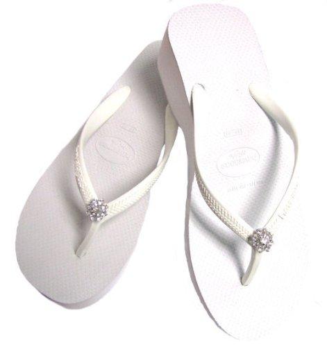 Havaianas Romance Crystal Flip Flops - Havaianas Bridal Wedge Flip Flops