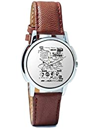 BigOwl Psychedelic Reality Painting Analog Men's Wrist Watch 2114874526-RS1-W-BRW