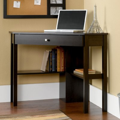 Buy Low Price Comfortable Sauder Corner Computer Desk – Cinnamon Cherry – 412003 (B005PX9MWE)