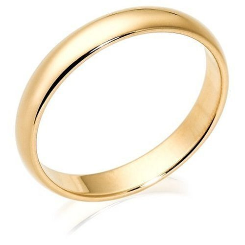 10k Yellow Gold 4mm Traditional Men's Wedding Band