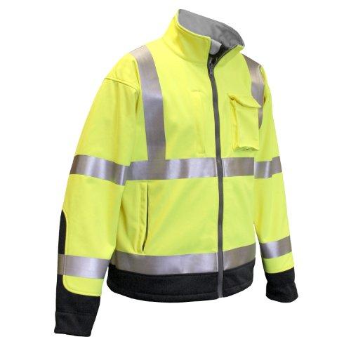 Radians SJ31-3ZGS-XL Class 3 Hi Viz Tri Laminate Soft Shell Jacket, Green, Extra Large