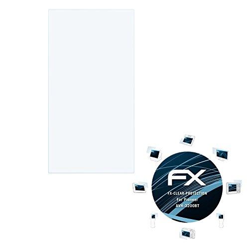 3-x-atFoliX-Displayschutzfolie-Pioneer-AVH-3200BT-Schutzfolie-FX-Clear-kristallklar