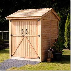 Build shed doors double locked