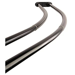 Kingston Brass Ccd2175 Adjustable 60 Inch 72 Inch Double Curved Stainless Steel