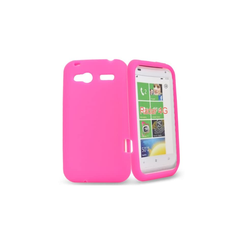 Mobile Palace  Pink silicone case cover pouch for htc radar