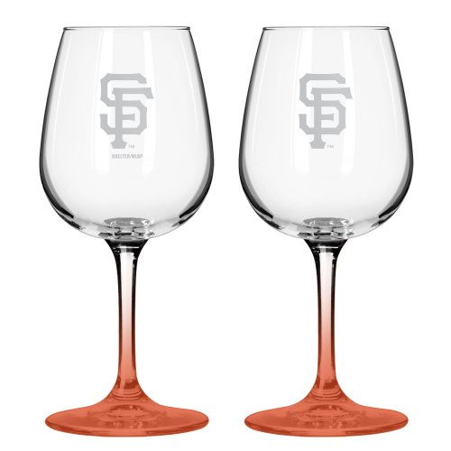 Mlb San Francisco Giants Satin Etch 2-Ounce Wine Glass (Pack Of 2) front-602169