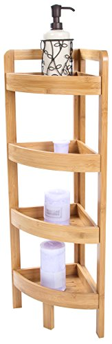 Bamboo Corner Storage Shelf - 4 Tier - By Trademark Innovations