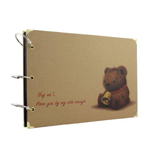 "10X7"" Scrapbook Photo Album Teddy Bear front-905526"