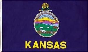 Kansas State Flag 3x5 3 x 5 Brand NEW 3X5FT KS Banner