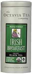 Octavia Tea Irish Breakfast (Organic, Fair Trade Black Tea), 2.82-Ounce Tin by Octavia Tea