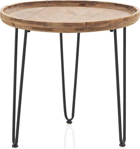 couchtisch rund holz metall inspirierendes design f r wohnm bel. Black Bedroom Furniture Sets. Home Design Ideas