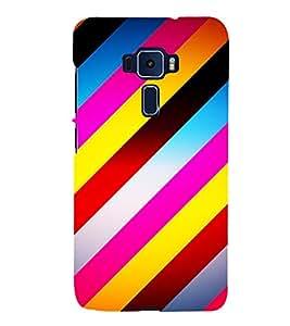 Slant Line Pattern Cute Fashion 3D Hard Polycarbonate Designer Back Case Cover for Asus Zenfone 3 ZE520KL (5.2 Inches)