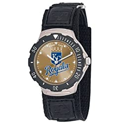 MLB Men's MLB-AGV-KC Agent Series Kansas City Royals Velcro Watch
