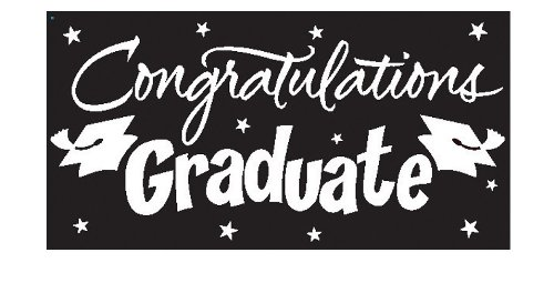 Creative Converting Congrats Grad Paper Art Gigantic Greetings, Black