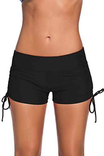 Aleumdr Women's Boardshort Bottom Shorts Swimming Panty Medium Black(FBA) Bottoms Casual Shorts