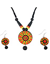 "ARTWOOD ""Natural Circle of Life"" 3-piece TerraCotta Jewellery Set"