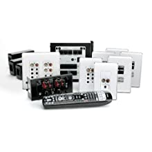 OnQ / Legrand AU5644WH lyriQ High Performance MultiSource, 4Zone Audio System Kit in Studio Design