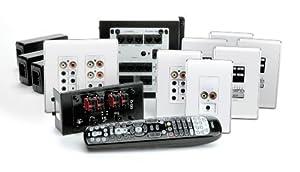 OnQ / Legrand AU5644WH lyriQ High Performance MultiSource, 4Zone Audio System Kit in Studio Design
