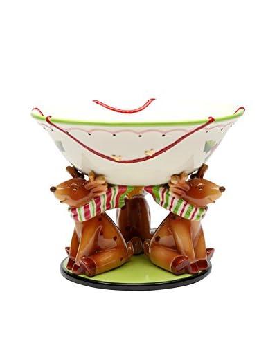 Cosmos Reindeer Punch Bowl
