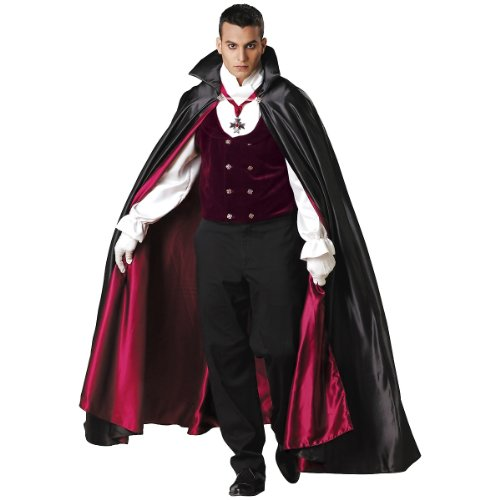 Gothic Vampire Costume - X-Large - Chest Size 46-48