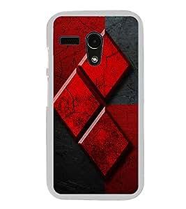 Red and Black Design 2D Hard Polycarbonate Designer Back Case Cover for Motorola Moto G :: Motorola Moto G (1St Gen)