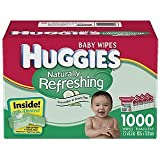 HUGGIES Naturally Refreshing Baby Wipes With Cucumber & Green Tea 1000 Count,