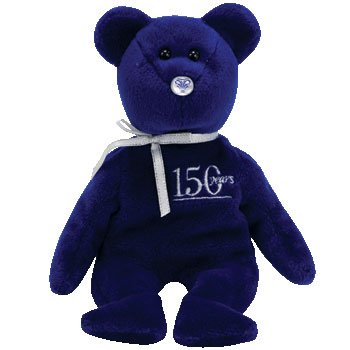 TY Beanie Baby - QUIET the Bear (Northwestern Mutual Exclusive)