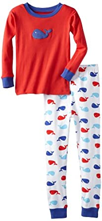 New Jammies Boys 8-20 Snuggly Pajama Whales, Red, 12