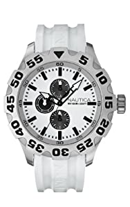Nautica Men's N15583G BFD 100 Multifunction White Resin Watch