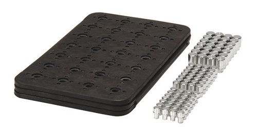 Triton Products 72426 MagClip 3 Panel 84 Magnet Power Mat and 84 Assorted Power Pegs 8-3/8-Inch by 10-1/4-Inch, Black