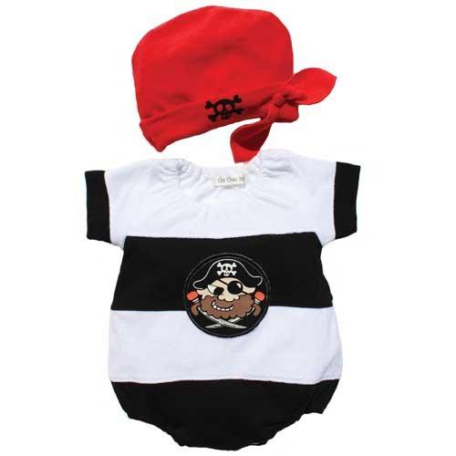 【帽子付き海賊パイレーツ】ロンパス (60cm)